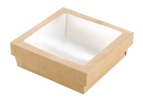 Packnwood 210Krayb208 Kray Box With Window, Biodegradable, 118.3 Oz. Capacity (Pack Of 100)