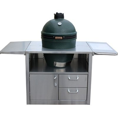 Primo 601 Cypress Wood Table for Primo Round Kamado Grill, 4 Wheels (Cypress Grill compare prices)