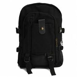 Outdoor Canvas Bag Backpack Shoulder Bag Hiking Rucksack Satchel Unisex