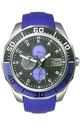 Marc Ecko Men's E12597G1 The Equation Multi-Function Purple Polyurethane Strap Watch