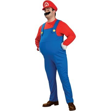 Super Mario Bros. - Deluxe Mario Plus Adult Costume