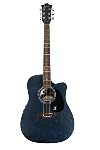Lindo Willow Electro / Electric Acoustic Cutaway Guitar with Pre-Amp and Digital Tuner/Gig Bag