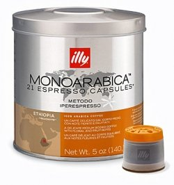 Shop for illy iperEspresso capsules - Monoarabica ETHIOPIA - 2 tins (2 x 21 capsules) from Illy