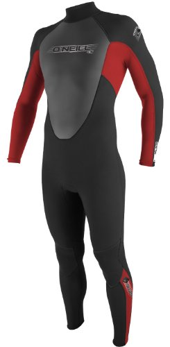 ONeill Wetsuits Mens Reactor 3/2mm Full Suit Black Red, Large