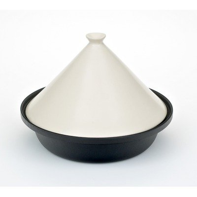 Cast Iron Cooking Tagine in Cream Size: 30 cm