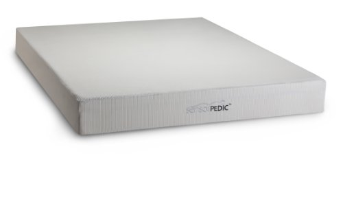 Sensorpedic Deluxe 8-Inch Memory Foam Mattress With Ventilated I-Cool Technology, Queen Size, White front-471520