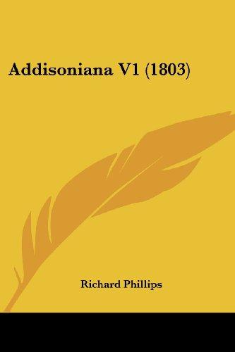Addisoniana V1 (1803)