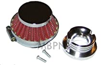 47cc 49cc Racing Chrome Air Filter With V Stack Adapter