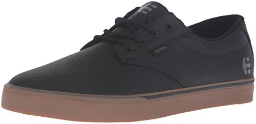 Etnies Men's Jameson Vulc Skateboarding Shoe, Black/Gum/Grey, 10.5 M US