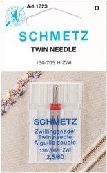 Bulk Buy: Euro-Notions Twin Machine Needle Size 2.5/80 1/Pkg 1723 (10-Pack) nativist notions