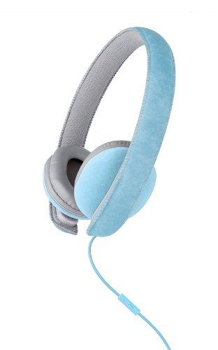 Merkury Innovations Mi-Hm100-475 Artist Suede Headphones - Turquoise