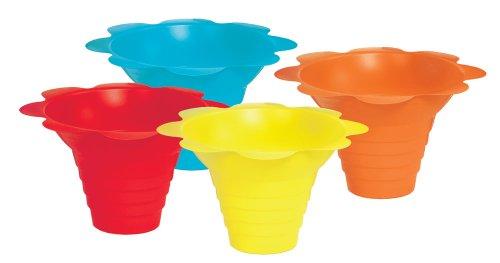 Paragon 4-Ounce Sno-Cone Flower Drip Tray Cups, Multicolor, 100-Cup Case (Good Snow Cone Machine compare prices)