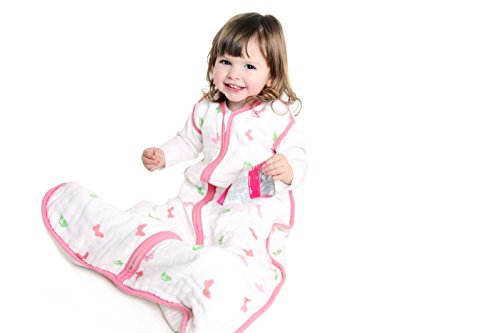 Baby Muslin Summer Sleeping Bag approx. 0.5 Tog - Butterfly - 12-36 months/43inch