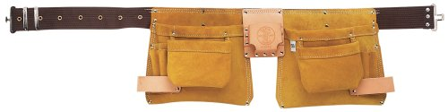 Klein 42242 48-Inch One-Piece Nail/Screw and Tool Pouch Apron (Tan/Yellow)