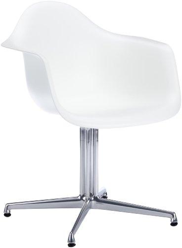 Vitra 440115000104 DAL Eames - Silla de pl�stico, color blanco y cromo