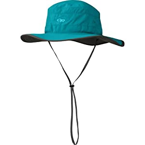 Outdoor Research Women's Solar Roller Hat, Alpine Lake/Dark Grey, Medium