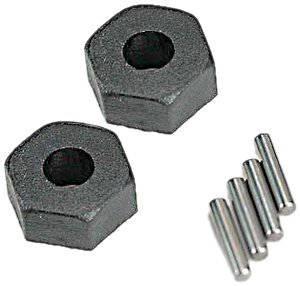 Traxxas 1654 Wheel Hubs with 2 Hex and 2 Stub Axle Pins