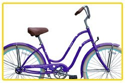 Steel Frame, Micargi Sakura 1-speed (Purple/baby blue) Women's 26