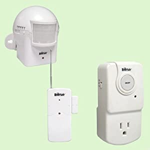 GSI Magnetic Vibration and Motion Detector - G422RW2 AC Wall Outlet Plug Socket And Wireless Slim Door And Window Magnetic Vibration Detector - For Security, Lighting, Energy Saving, Etc. - G616PR Wireless Outdoor Weather-Resistant Motion Detector With Swivel Sensor Head - Anti Intruder Defense Security Alarm System