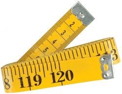 Bulk Buy: Dritz Fiberglass Tape Measure 120 Yellow 840 (6-Pack)