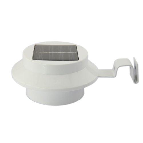 Tabstore White Led Solar Gutter Night Utility Security Light For Indoor Outdoor Use, 3 Led Lamps