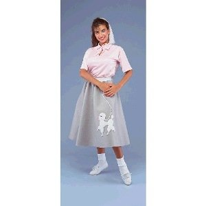 50s Poodle Skirt (Pink) Adult Costume Size Standard
