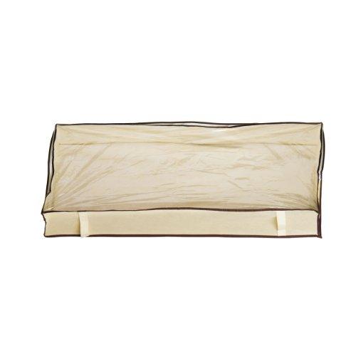 Cassettone Borsa porta abiti per abiti-Organiser per maglioni, colore: crema con finiture & Spacesaver In marrone