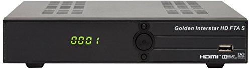 Golden Interstar Decoder satellitare HD FTA S (Free To Air), Full HD, 1080p, DVB-S2)