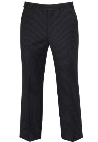 Brook Taverner Cromford Suit Trousers in Navy Pinstripe 40L