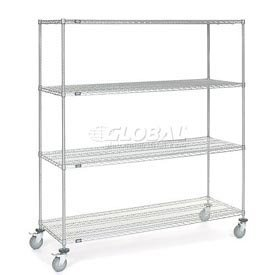 60W X 18D x 54H Chrome Wire Shelving
