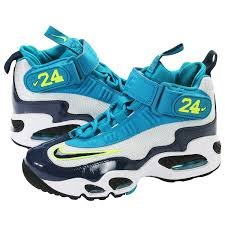 AIR Griffey MAX 1 (Gs) Pr Pltnm/ Mdnght Nvy-n-trq-black 437353 003 Size 6y