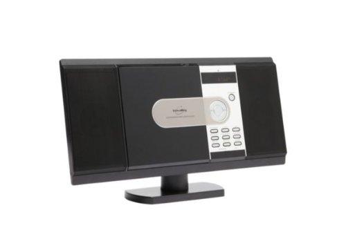 Inovalley CH04 Desk / Table / Wall Mounted Ultra Slim HiFi Music Centre Mini Micro System CD - Radio - MP3 Playback... Black Friday & Cyber Monday 2014