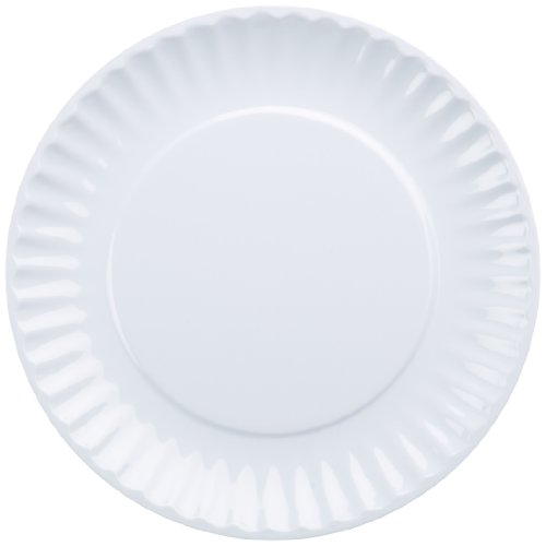 DII Melamine Resusable Party or Picnic Plate, White, Set of 12 (Picnic Ware compare prices)