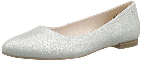 Caprice22107 - Ballerine chiuse Donna , Argento (Silber (Silver 941)), 40