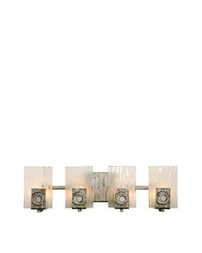 Varaluz Polar 4-Light Vanity, Blackened Silver