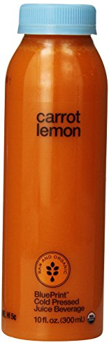 Blueprint Vegetable Juice, Carrot Lemon, 10 Oz front-589786