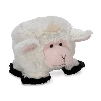 GoDog Puppy Tough Ball Lamb Style Dog Toy with Chew Guard
