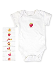 7 Pack Pure Cotton Assorted Bodysuits
