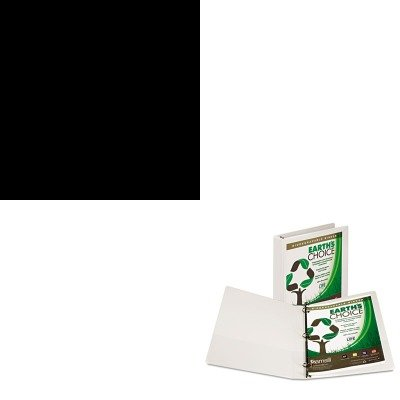 KITHONS42ABCPSAM18937 - Value Kit - Samsill Earth's Choice Biodegradable Round Ring View Binder (SAM18937) and The HON Company HON Brigade 3-Shelf Steel Bookcase, Black (HONS42ABCP)