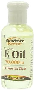 Sundown Naturals Vitamin E Oil, 70,000 IU, 2.5 Ounces (Pack of 3)