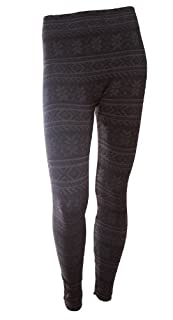 Simplicity Women/girls Leggings Warm Tights, Snowflakes Pattern, Striped