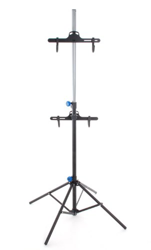 Conquer Portable 2 Up Dual Bike Repair / Storage Stand Tripod Two Bike Rack