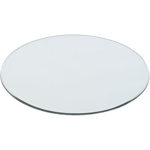 20cm Round Mirror Candle Plate, Single, by White Candle Company