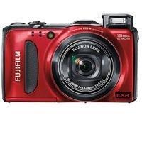 Fujifilm FinePix F600EXR Digital Camera, 16MP Resolution, 3.0 inch LCD Display, 15x Optical Zoom Lens, Red