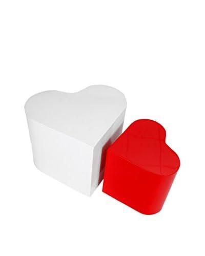 Korb Set De 2 Mesas Auxiliares Corazón