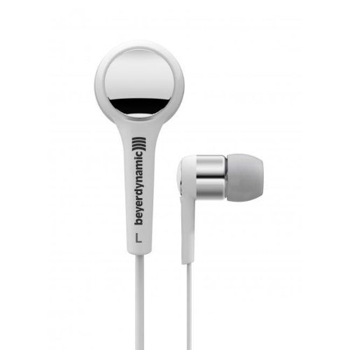 Beyerdynamic 716405 Dtx 102 Ie In-Ear Headphones, White/Silver