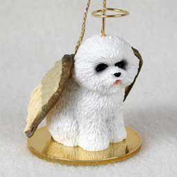 Amazon.com: Bichon Frise Tiny One Dog Angel Christmas Ornament: Home