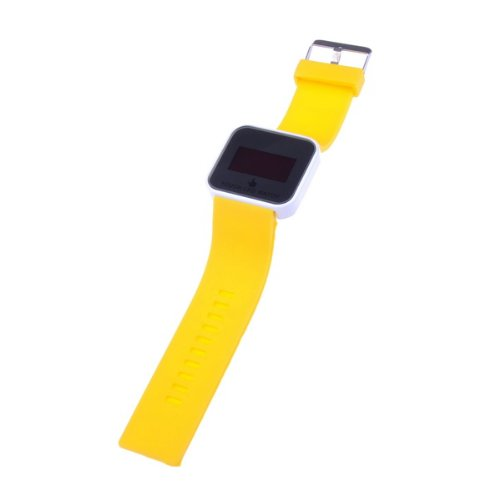 BestDealUK Yellow Watchband Fashion Sports Touch Screen LED Digital Wrist Watch