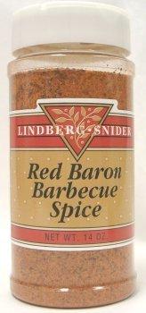 Lindberg-Snider Red Baron Barbecue Spice 14Oz.