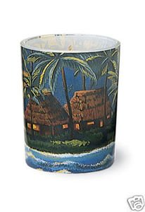 Hawaii Votive Candle Tropical Sunset